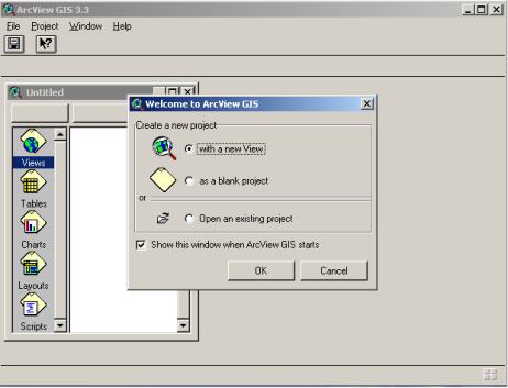 GUI Program ArcView GIS